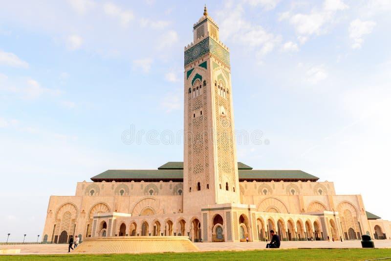 重创的Mosquee哈桑二世 免版税库存图片