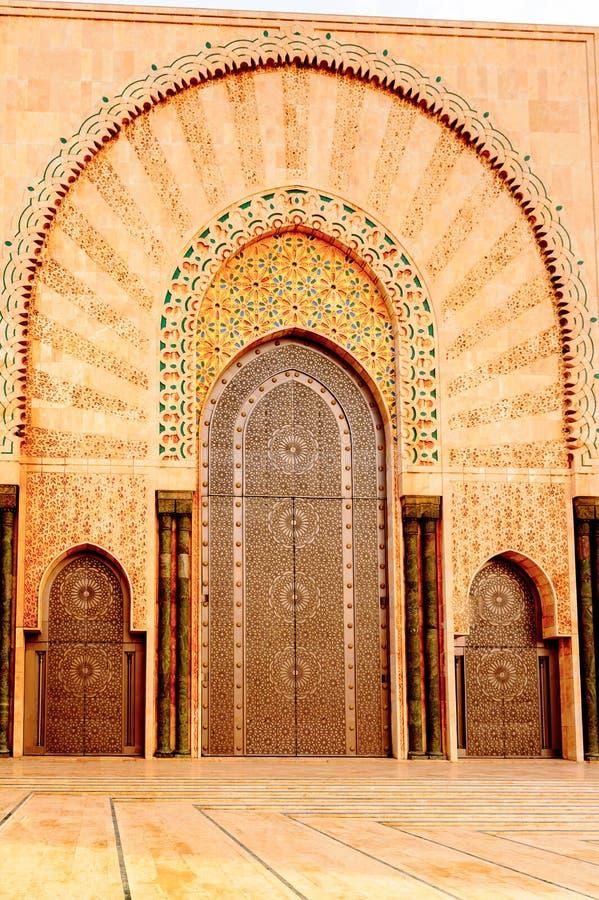 重创的Mosquee哈桑二世 库存照片