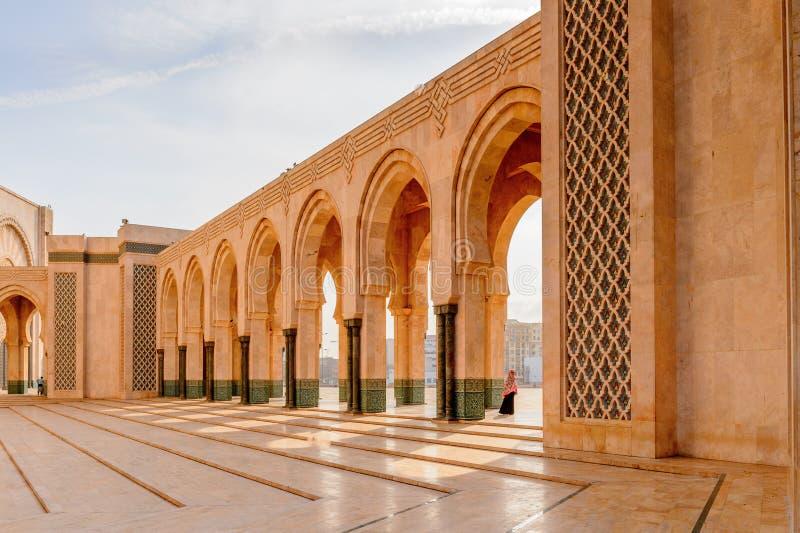 重创的Mosquee哈桑二世 免版税库存照片