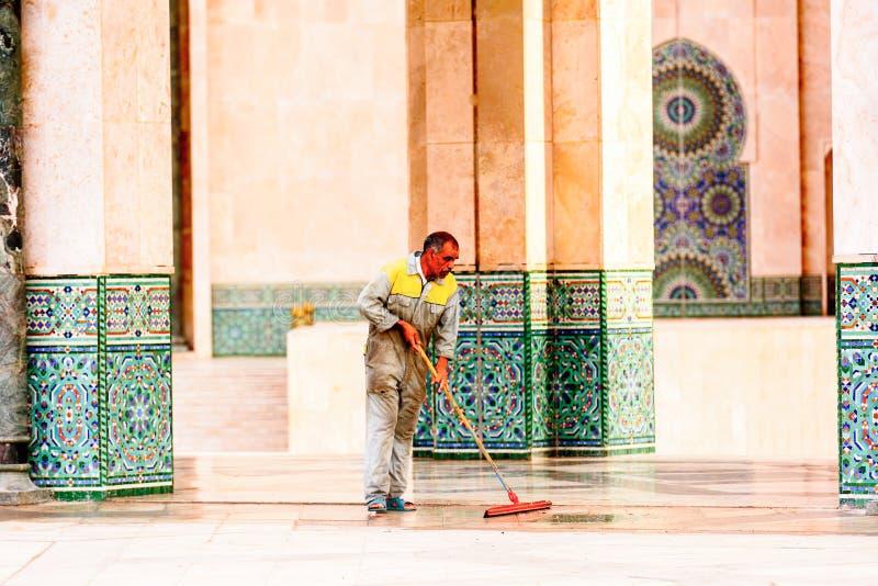 重创的Mosquee哈桑二世 免版税图库摄影
