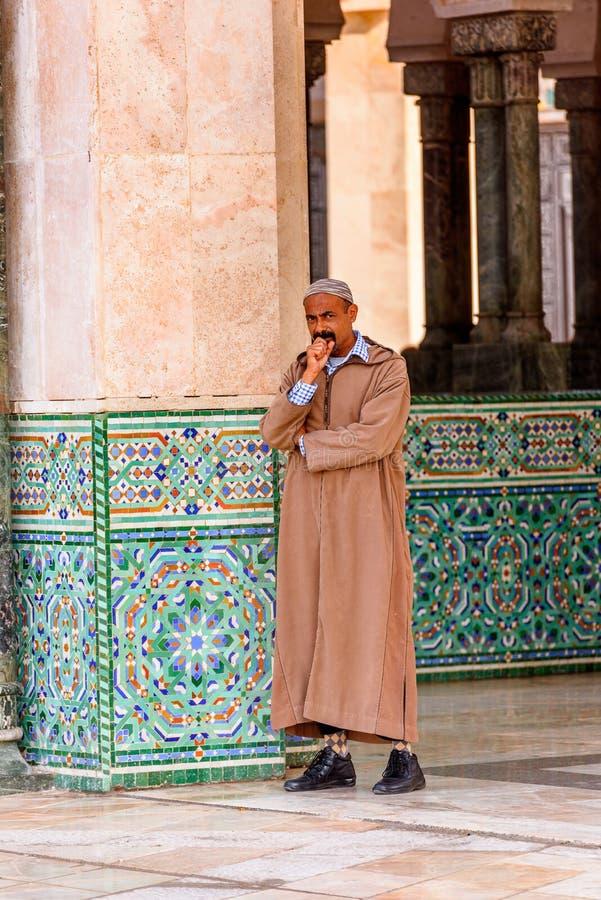 重创的Mosquee哈桑二世 库存图片