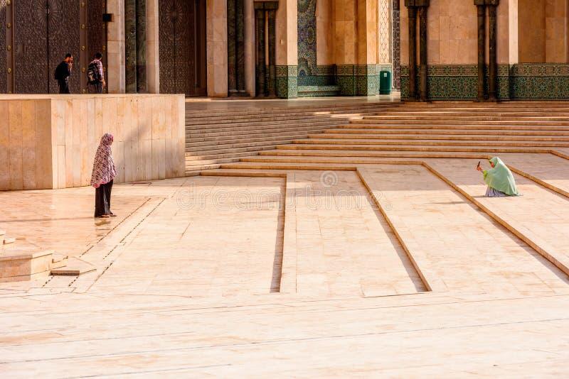 重创的Mosquee哈桑二世 图库摄影