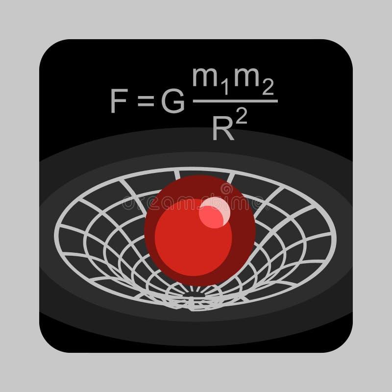 重力力量能量概念背景,动画片样式 皇族释放例证