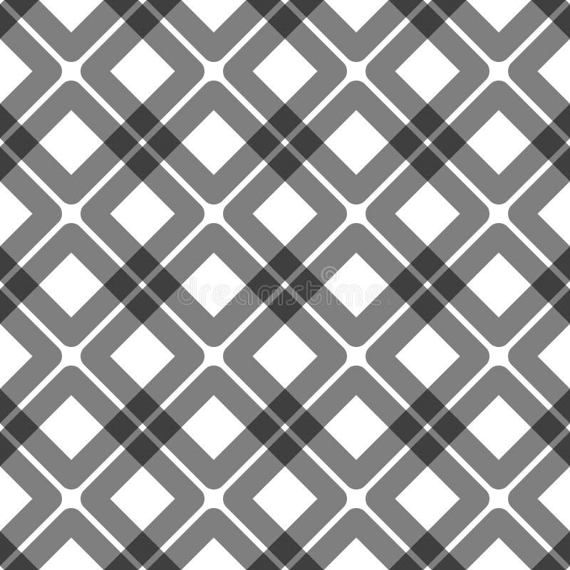 重叠的正方形无缝的样式 皇族释放例证