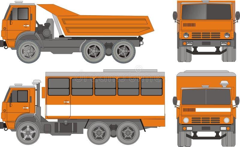重型卡车向量 向量例证
