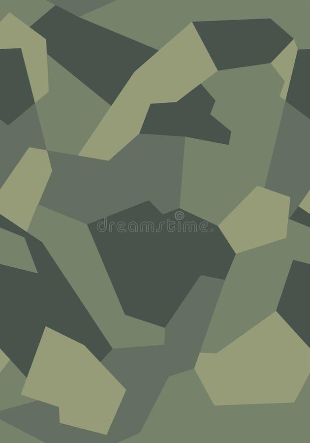重复寻找样式的无缝的军队绿色布料、汽车或者武器 免版税库存照片