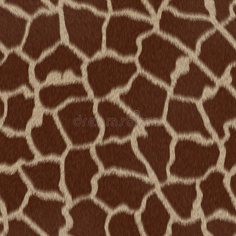 重复无缝的纹理的长颈鹿模式 库存例证