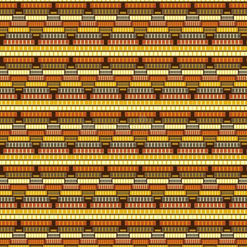 重复样式的布朗黄色现代菱形和正方形 皇族释放例证
