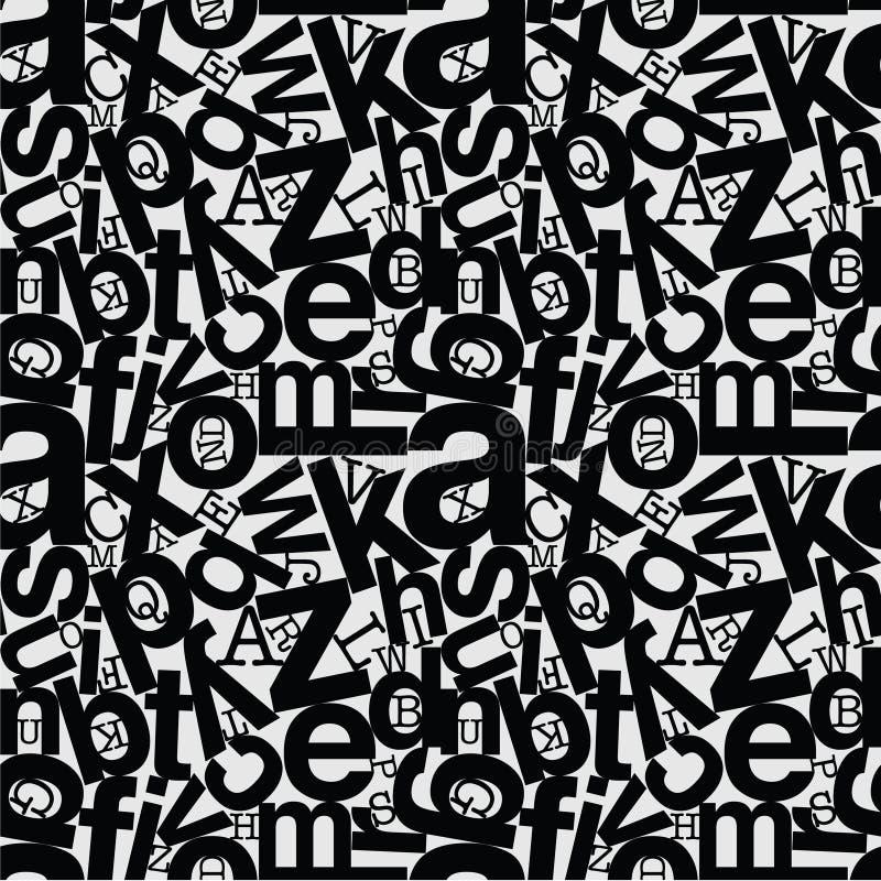 重复样式背景字母表混杂 免版税图库摄影