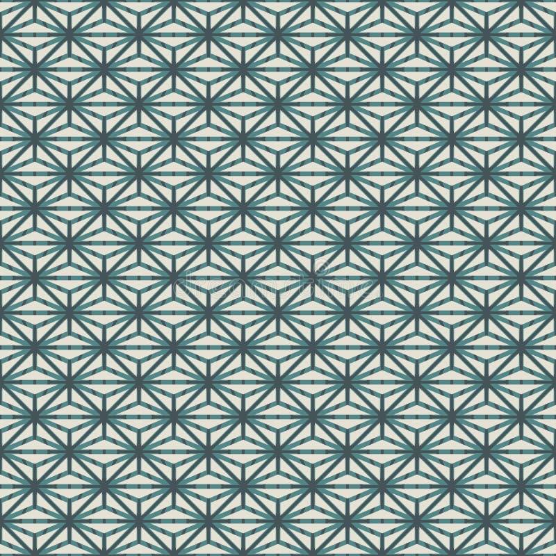 重复的图背景 几何形状墙纸 与多角形的无缝的表面样式 种族和部族样式 库存例证