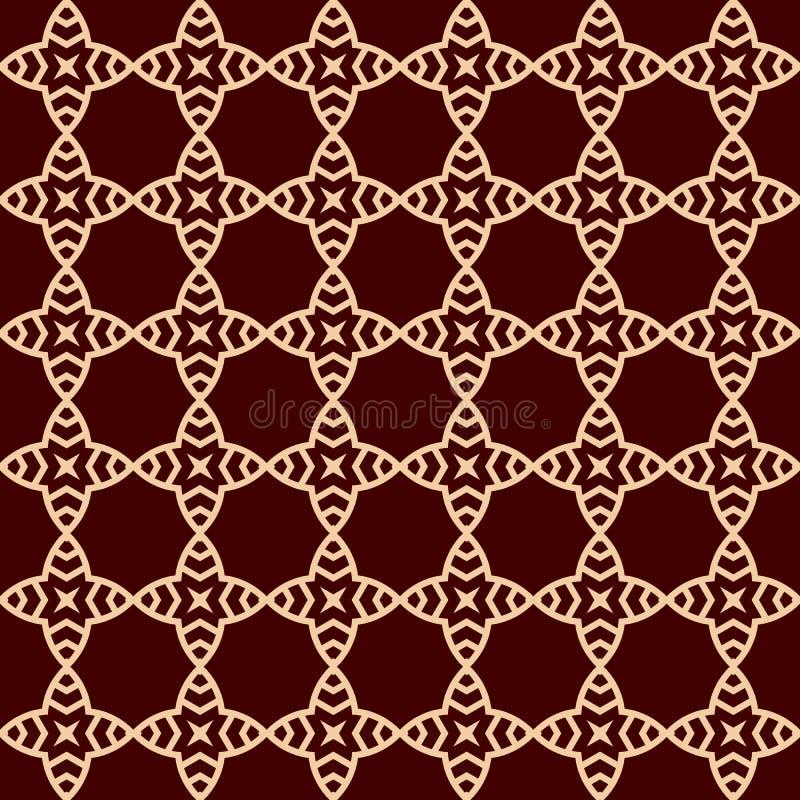 r r 重复线性装饰品 向量例证