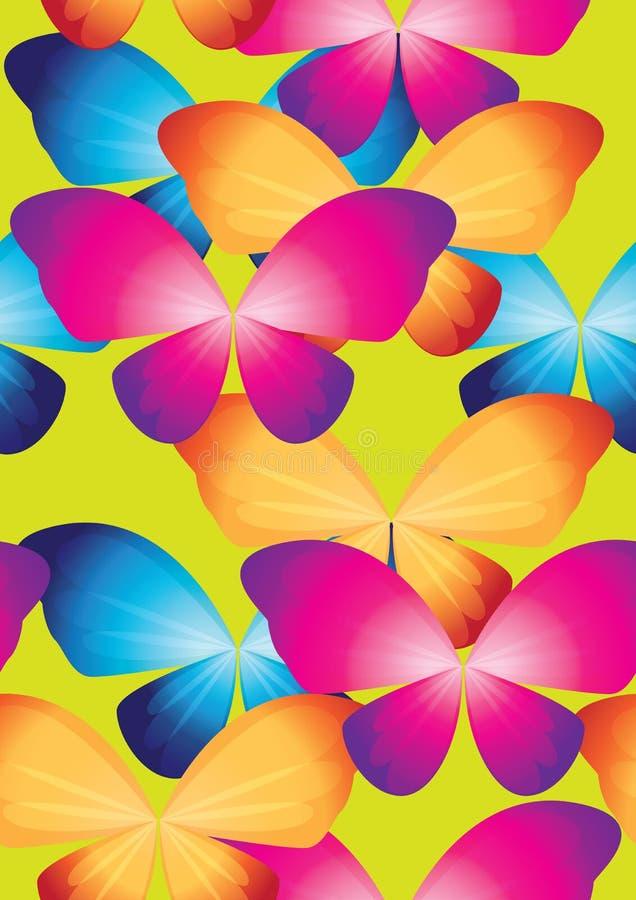 重复蝴蝶1 向量例证