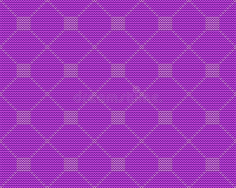 重复装饰品,正直在紫色背景的Knitted 皇族释放例证