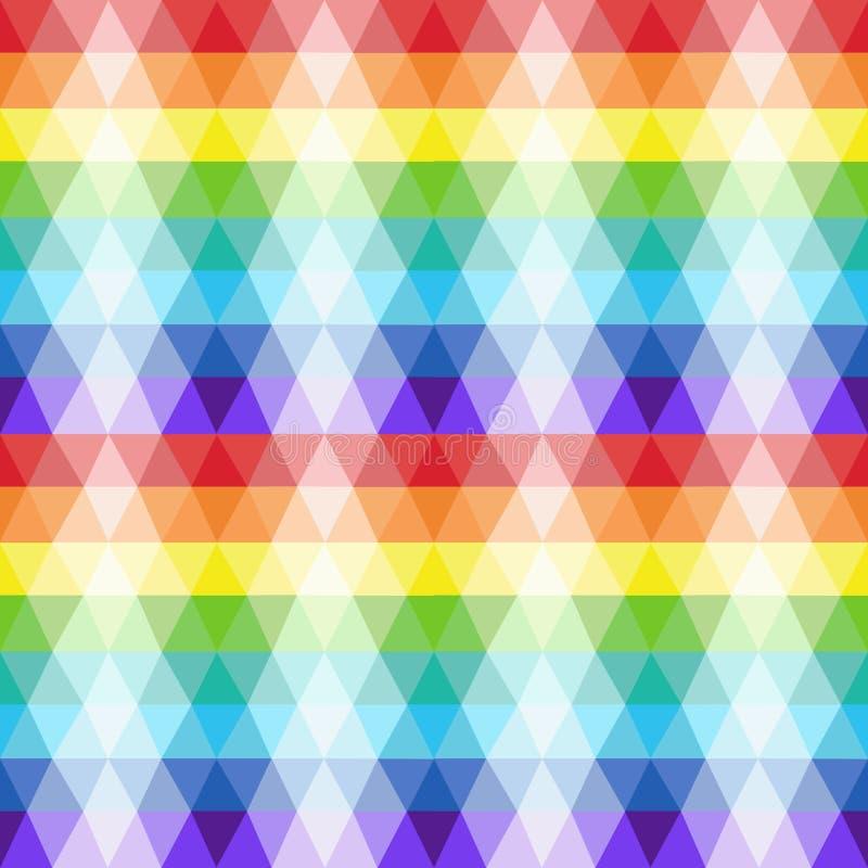 重复透明三角无缝的纹理在明亮的颜色塑造。 免版税库存照片