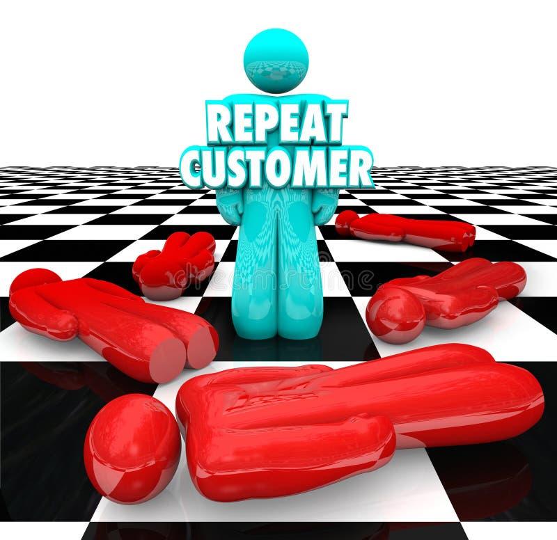 重复顾客忠诚的满意的忠实的客户回归事务 皇族释放例证