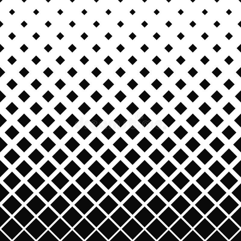 重复黑白方形的样式 库存例证