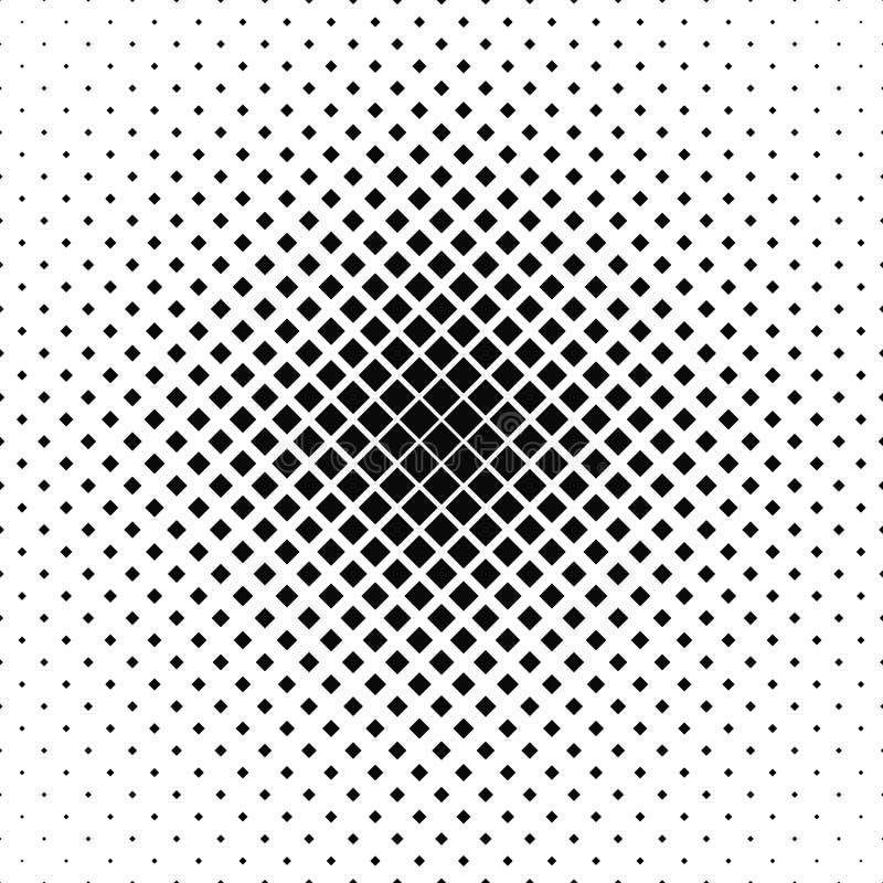 重复黑白色传染媒介正方形样式 皇族释放例证