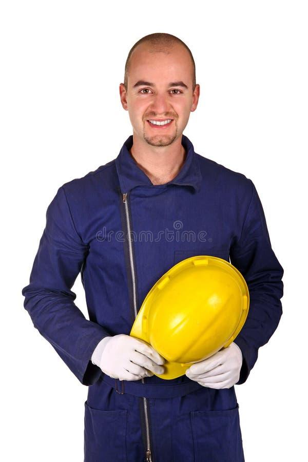 重工业工作者年轻人 免版税库存照片