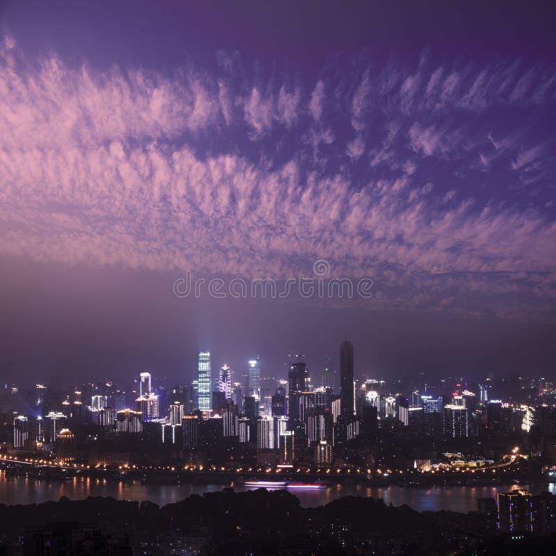 重庆晚上场面  免版税库存图片