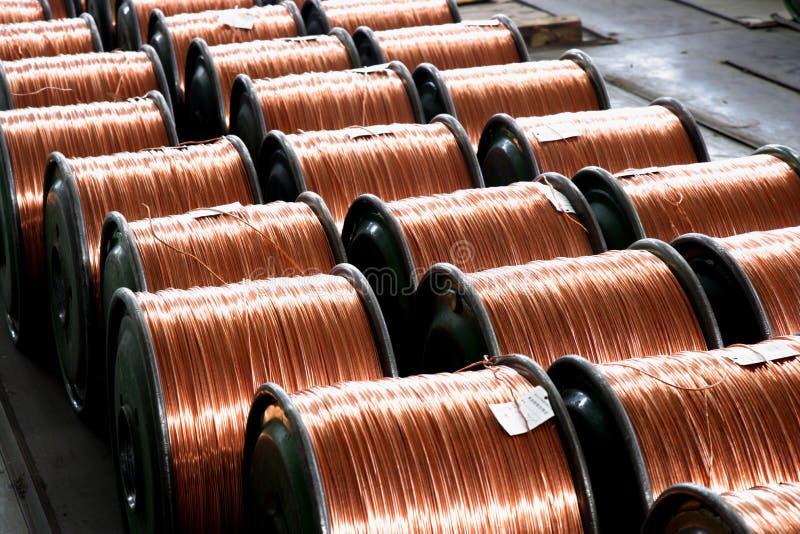重庆金属线和缆绳导线和缆绳制造业 图库摄影
