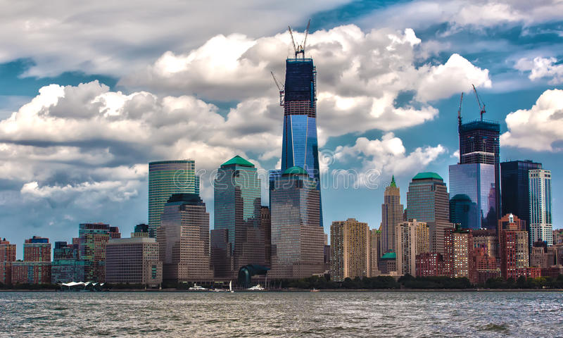 重建世界贸易中心 免版税库存图片