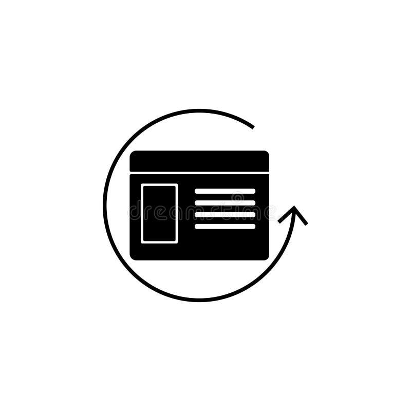 重新开始浏览器象 网象的元素流动概念和网apps的 被隔绝的再开始浏览器象可以为w使用 皇族释放例证
