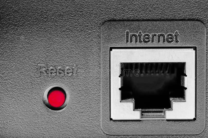 重新设置互联网 免版税图库摄影
