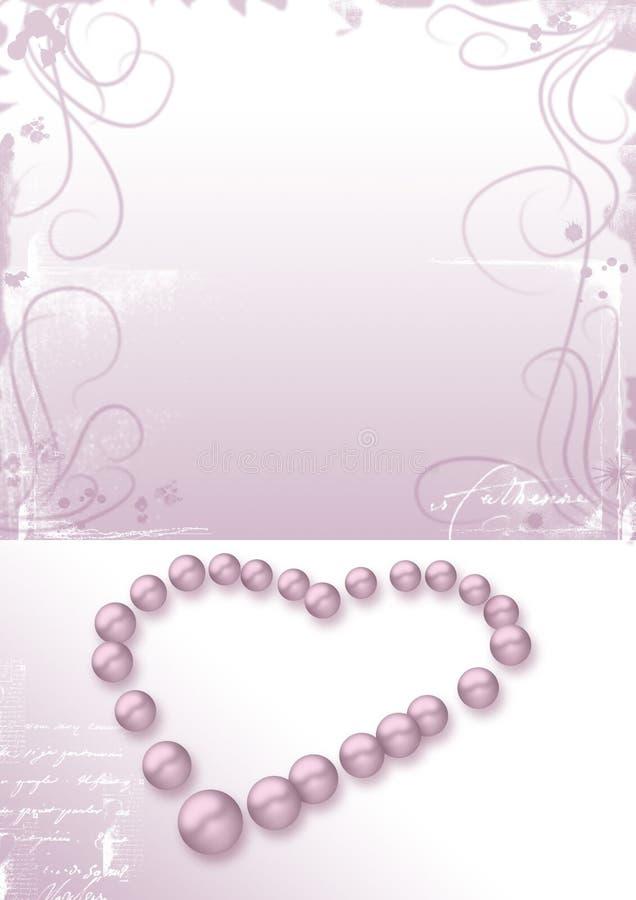 重点信函爱成珠状粉红色 库存例证