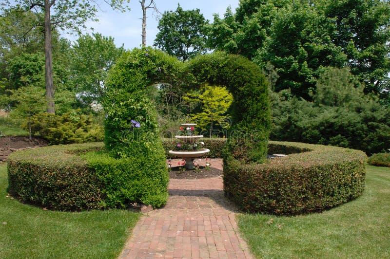 重点修剪的花园 免版税库存图片