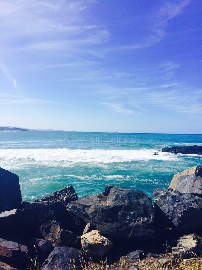 重点前景海浪通知 免版税库存照片