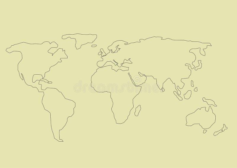 重点半球映射北简单的世界 库存例证