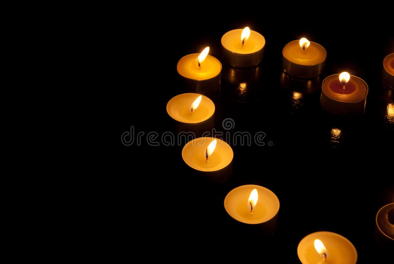 重点形状蜡烛 免版税库存照片