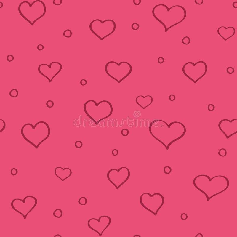 重点无缝模式的粉红色 库存例证