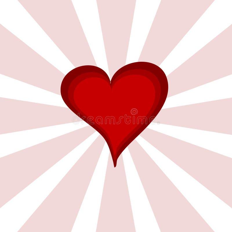 重点桃红色红色starburst 皇族释放例证