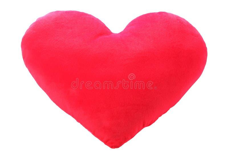 重点爱红色枕头 免版税图库摄影