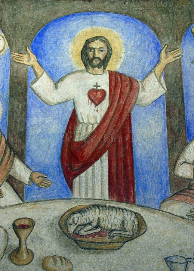 重点神圣的耶稣 库存图片
