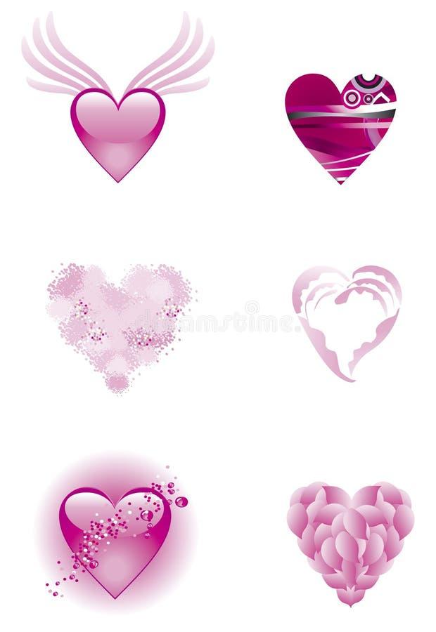 重点粉红色集 库存例证