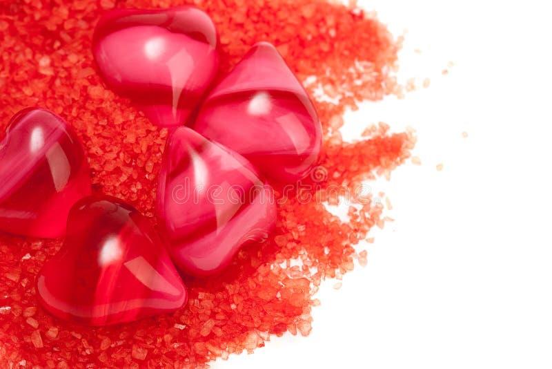 重点红色盐一些 免版税库存照片