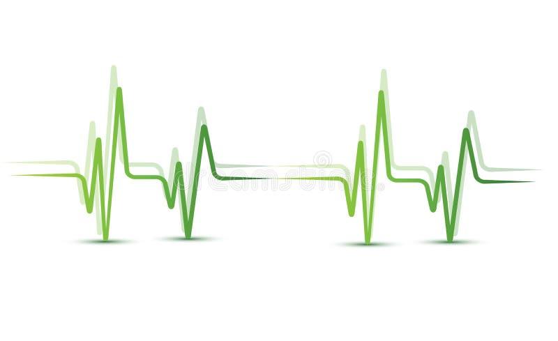 重点脉冲 向量例证