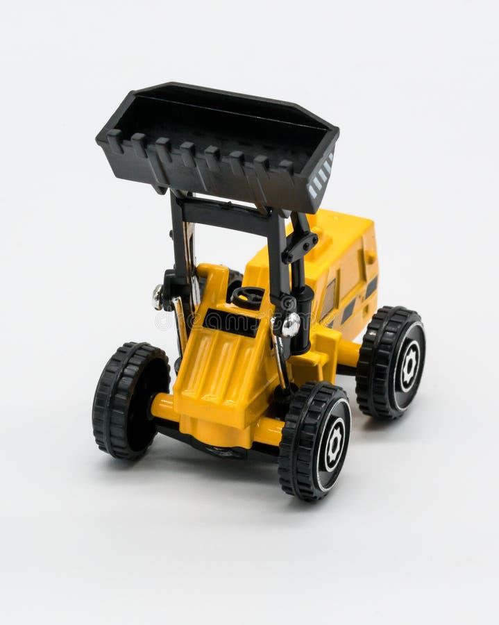 重的履带牵引装置玩具推土机 库存图片