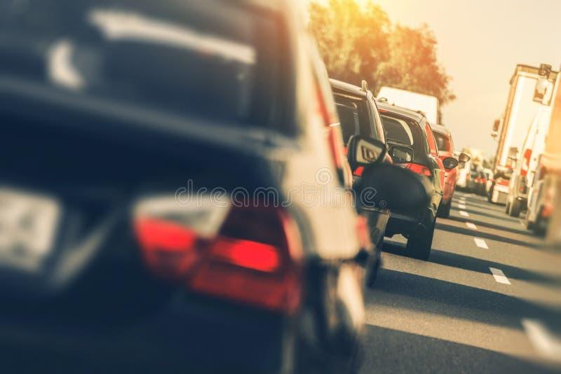 重的高速公路交通 库存图片