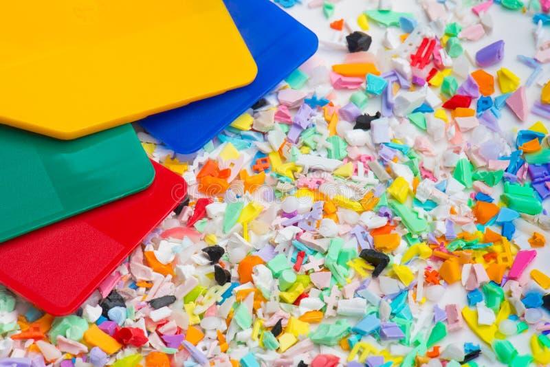 重磨与颜色样品 免版税库存照片