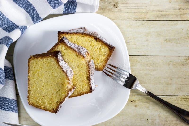 重糖重油蛋糕 图库摄影