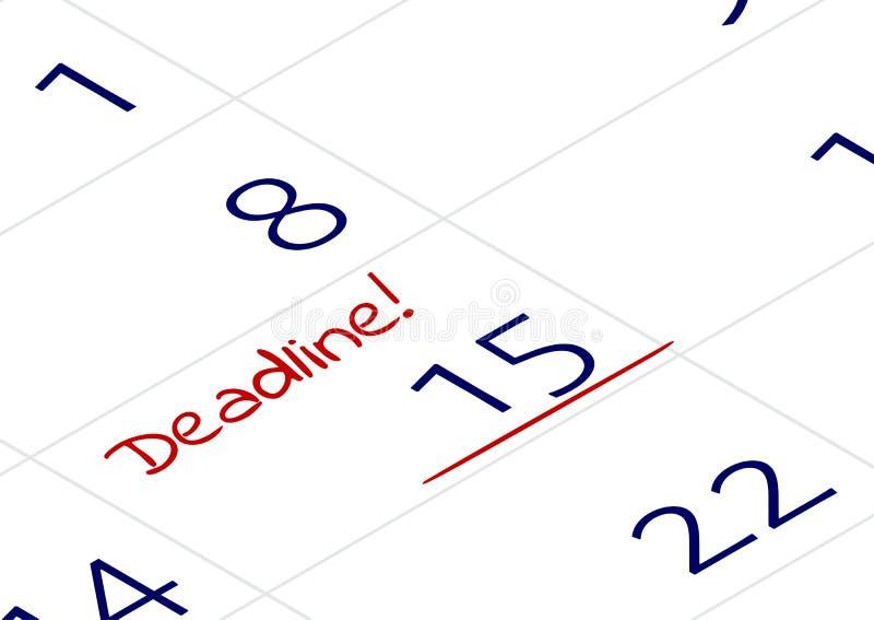 重要任命的提示 与在笔记本或日历写的词最后期限的一个重要日期 向量例证