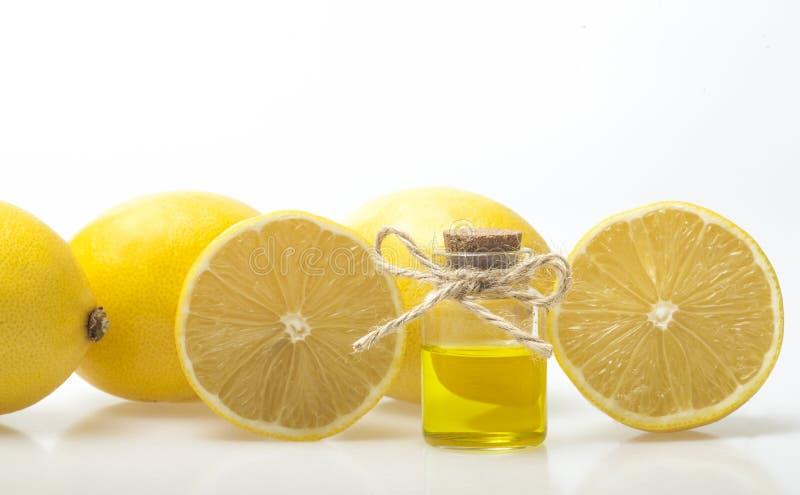 重要柠檬油 库存照片