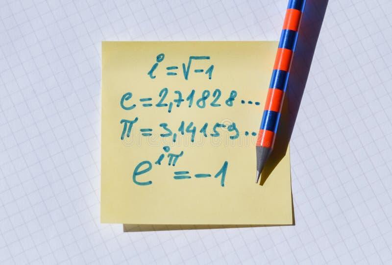 重要欧拉方程 免版税图库摄影