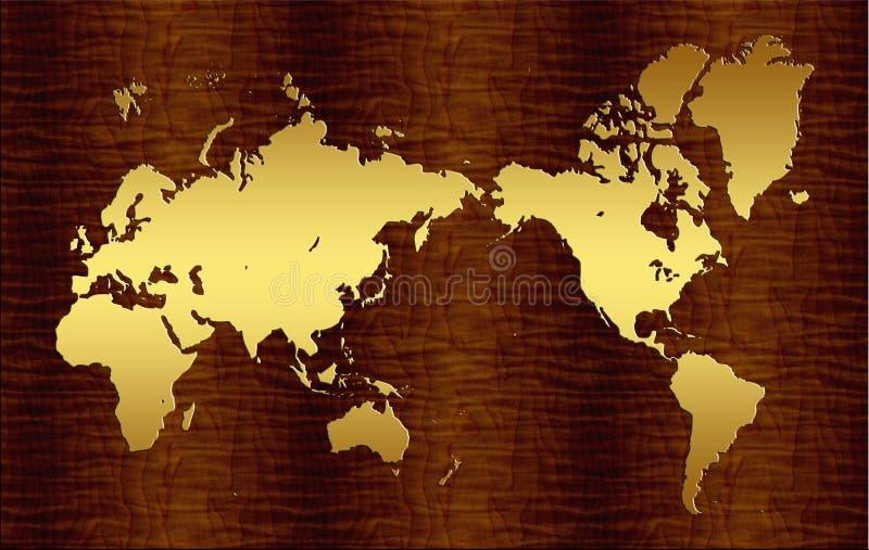重要的世界地图 库存例证