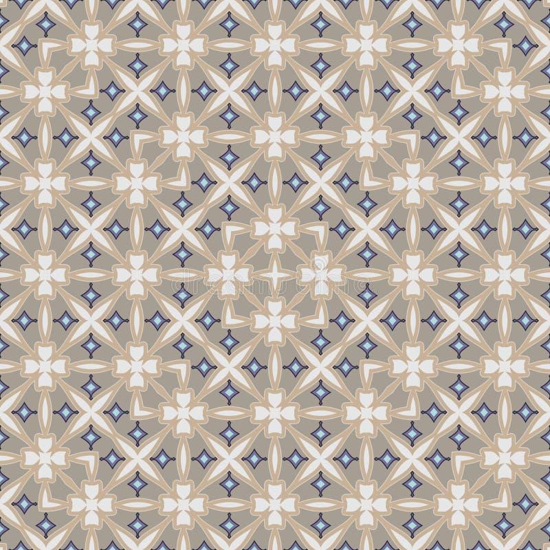 重要装饰抽象五颜六色的方形的几何花卉样式 库存例证