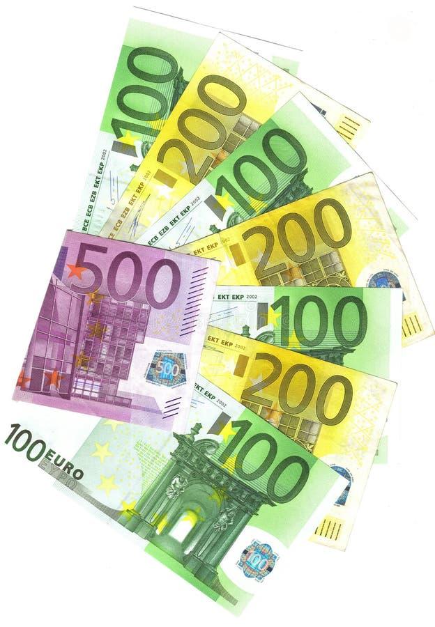 重要钞票的欧元多数 免版税库存照片