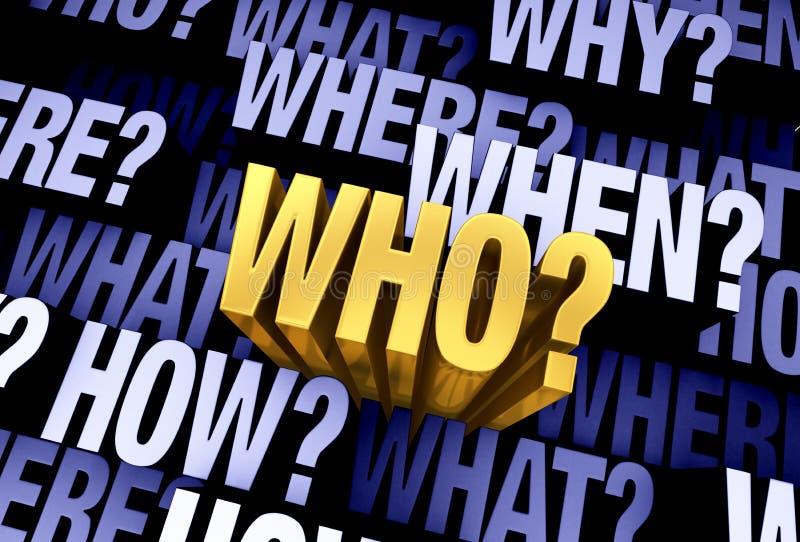 重要问题是'谁?' 向量例证